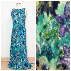 All That Jazz Vintage Floral Maxi Dress S